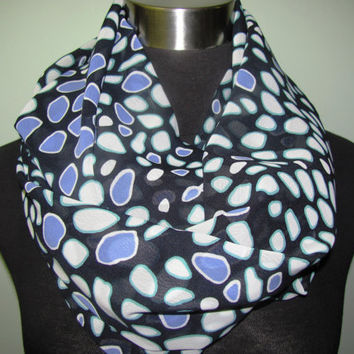Purple Dot Infinity Scarf