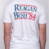 Rowdy Gentleman Reagan Bush Pocket T-Shirt for Men REAGANBUSH84TEE