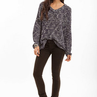 V Neck Marled Sweater $32