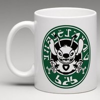 CUSTOM MADE Starbucks Disney Lilo and Stitch Alien Writing Coffee Mug Tea Cup
