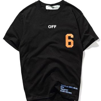 ONETOW Off White Short Sleeve T-shirts [419617964068]