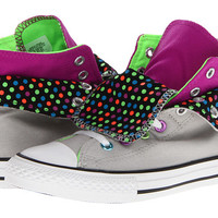 Converse Kids Chuck Taylor® All Star® Two-Fold (Little Kid/Big Kid) Gray Violet/Purple Cactus Flower - Zappos.com Free Shipping BOTH Ways