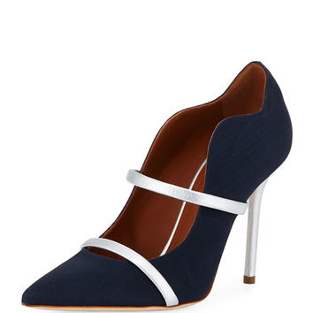 Malone Souliers Maureen Grosgrain Two-Strap Pump
