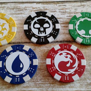 Magic the Gathering  MTG  Counter Poker Chips