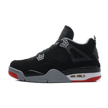 ca auguau Jordan Air Retro 4 Men Basketball shoes bred Fire Red Oreo White Cement Black Cat Thunder Athletic Outdoor Sport Sneakers 41-46