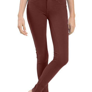 Womens Soft Skinny Ponte Jegging Pants