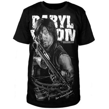 The Walking Dead Print T-shirt featuring Daryl Dixon with Crossbow