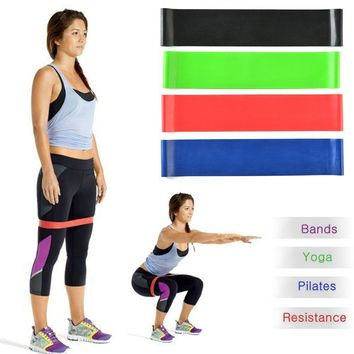 Exercise Resistance Loop Bands (Bands-Set of 4 Strength Performance)