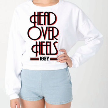 Iggy Azalea HEAD OVER HEELS American Apparel Crop Sweatshirt