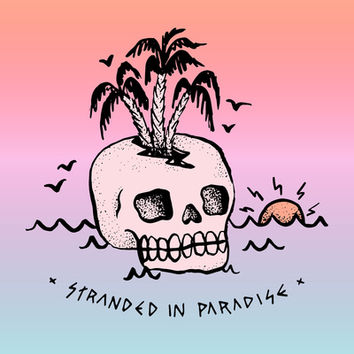 STRANDED IN PARADISE Art Print by Wesley Bird | Society6