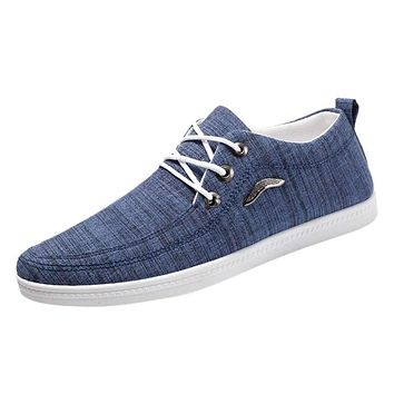 SAGACE Casual Shoes Male Fashion Men Outdoor Canvas Casual Lace-Up Shoes