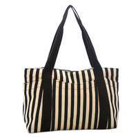 V Stripe Canvas Bag