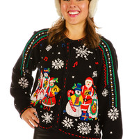 Carolers Abound Ugly Christmas Sweater