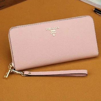 PEAPJ3V Prada Women Fashion Leather Zipper Wallet Purse-14