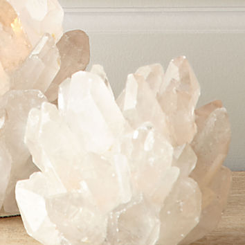 Small Clear Quartz Votive Holder - Kathryn McCoy Design