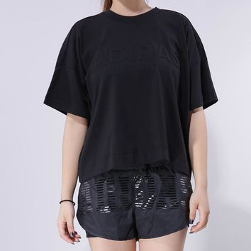 Adidas Woman Training Series Round neck Short sleeves Shirt Top Tee | Love Q333-1