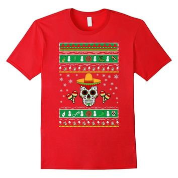 Kids emoji Mexican Ugly Christmas Sweater look T shirt