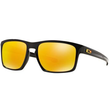 Oakley Sliver Valentino Rossi Sunglasses Polished Black Fire Iridium OO9262-27