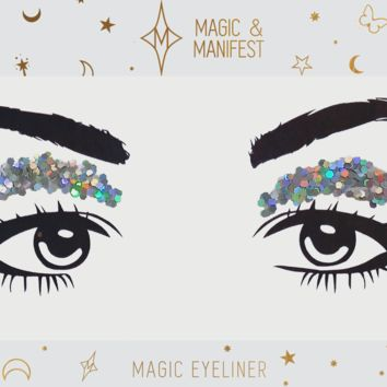 Magic and Manifest Magic Eyeshadow in Silver Glitter