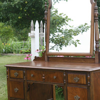 Antique Vanity Desk Sideboard Free Shipping