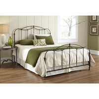 Queen size Metal Bed Frame with Headboard and Footboard - Boxspring Required