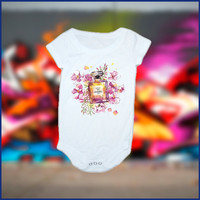 Chanel Flowers Art Inspired baby Onesuit