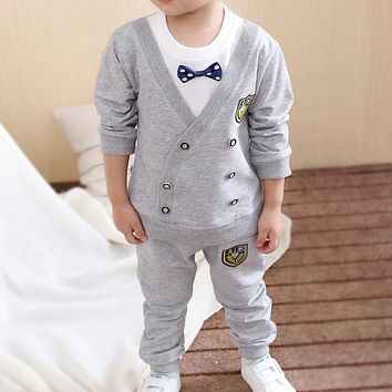 Spring Autumn Baby Boy Clothes Set Children Clothing Sets Sweater fabric Kids Clothes Baby Boys T-shirts+Pants 2PCS Tracksuit