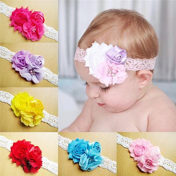 Lace Baby Headband Chic Flower Girls Headband Hair Bow Flower Headband for Baby Girl Children Hair Accessories