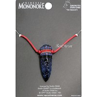 Licensed cool Studio Ghibli Princess Mononoke Crystal Dagger Cosplay Red Cord Necklace NEW