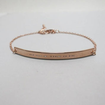 Morse Code Bracelet Hidden Message Friendship Lover Bracelet Secret Message Gift Idea for Best Friend Sister Bracelet