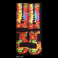Skittles 2 by Customer Request Parody Custom Nike Elite Socks