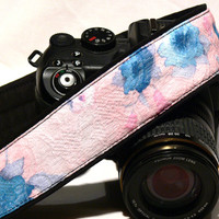 Pink Camera Strap. dSLR Camera Strap. Abstract Floral Camera Strap. Photo Camera Accessories.