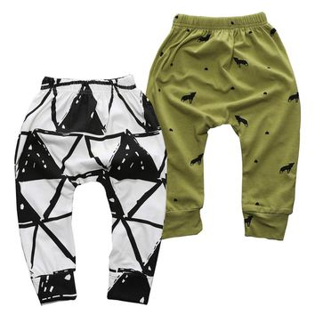 Baby PP Pants New Arrival Geometric Pattern Cotton Babys Boys Girls Harem Pants For Infant Newborn Trousers Boy Girl Clothing