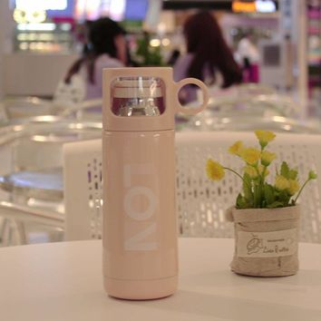 Letter Print Thermos Cup 350ml