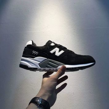 New Balance Fashion Casual All-match N Words Breathable Couple Sneakers Shoes Black I-A0-HXYDXPF