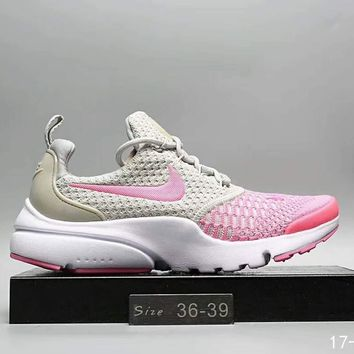 One-nice™ NIKE new knitted net surface breathable sneaker soft-soled running casual shoes Pink I-A0-HXYDXPF