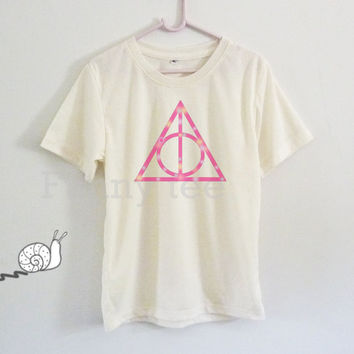 Pink triangle Harry Potter for kids toddlers boys girls clothing **short sleeve shirt **crewneck **off white tee size S M L XL