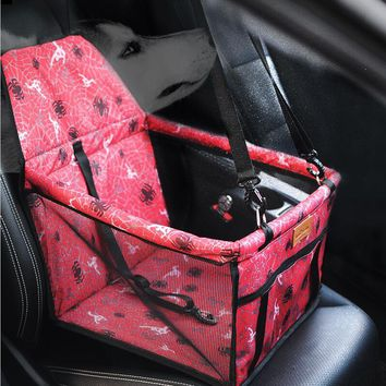 New Folding Washable Hammock Car Mat Seat Cover Bag Crate Storage Pocket For Dog Cat Pet Rear Single Seat Pads