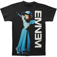 Eminem Men's  On The Mic T-shirt Black