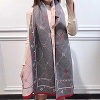 Perfect Givenchy Women Wool Scarf Shawl Silk Scar