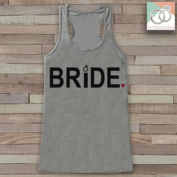 Bride Tank - Bride To Be Tank Top - Wedding Shirt - Simple Bridal Top - Grey Tank Top - Bachelorette Party Top - Bridal Party Outfits