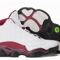 Hot Air Jordan 13 Retro Women Shoes White Red Black