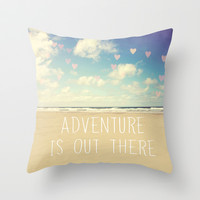 adventure is out there Throw Pillow by Sylvia Cook Photography