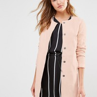 Ichi Collarless Swing Jacket at asos.com