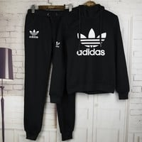 Adidas Nike Casual Print Hoodie Top Sweater Pants Trousers Set Two-piece Sportswear