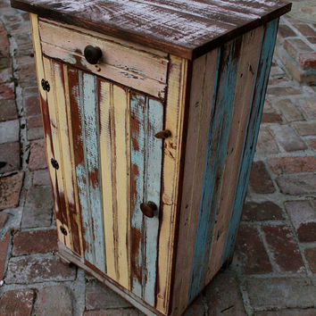 Table - Reclaimed Furniture - Handmade - Wooden Table - Honey's Treasures - Wood Furniture - Made to Order - Nightstand - Rustic Home Decor