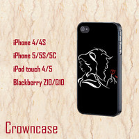 iphone 5s case,iphone 5c case,iphone 5 case,iphone 5s cover,iphone 5c cover,iphone 5 cover--beauty and the beast,in plastic and silicone.