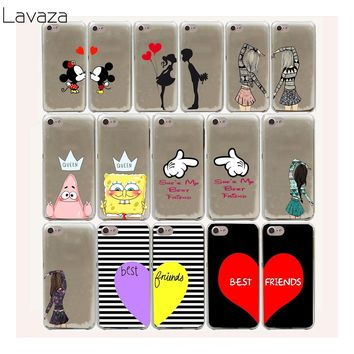 Lavaza 10FF cute kiss bbf best friends lover Hard Case For iPhone 8 7 6 6s Plus 5 5s 5C SE 4 4S cover X 10