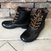 LONDON - BLACK All Weather Duck Boots