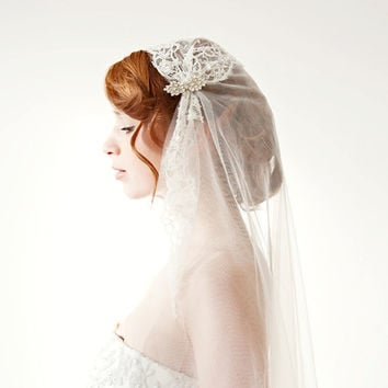 CUSTOM Listing for cathychun79 Touch of Love Veil by sibodesigns